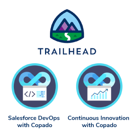 Copado Badges on Salesforce Trailhead